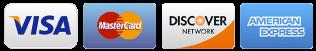 we accept MasterCard, Discover, Visa, American Express